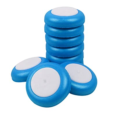 Ikevan 50 Pcs Refill Discs Bullet For Nerf Vortex Blaster Praxis Nitron Vigilon Proton,5 colors (Blue): Musical Instruments