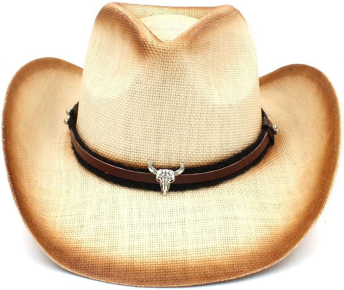 Handmade Weave Straw Women Western Cowboy Hat with Tassel Band for Lady Sombrero Vintage Jazz Caps Fedoras Sun Visors
