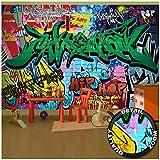 Children's Room Wall Mural - Graffiti Wall Decoration - Colorful Signs Writing Pop Art Street Style Writing Hip Hop Wallpaper Street Art Decor Wallpaper (132.3 x 93.7 Inch / 336 x 238 cm)