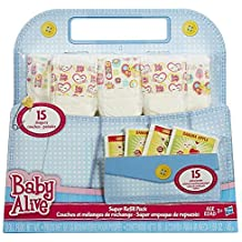 Baby Alive Doll Food and Diapers Super Refill Pack - 15 pieces