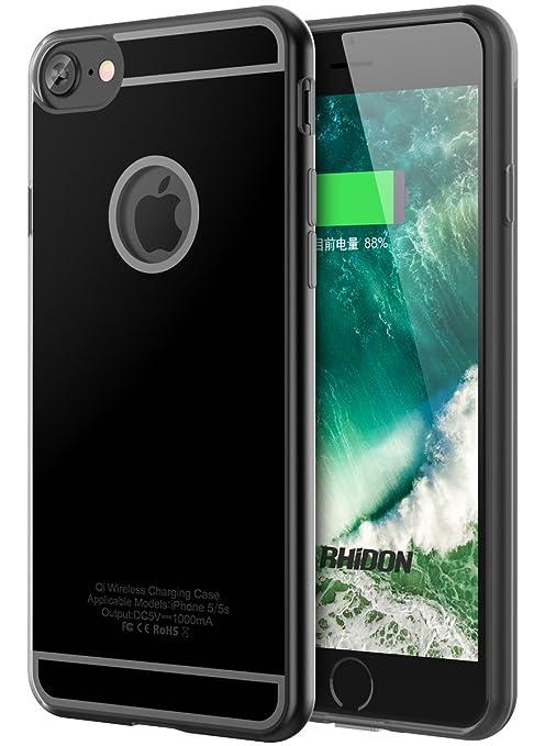5 opinioni per Ricevitore Wireless per iPhone 7, Rhidon iPhone 7 Custodia di ricarica wireless