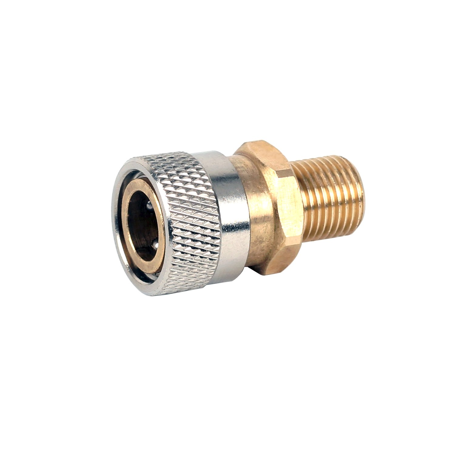 JUFENG Foster Female Quick-Disconnect to 1/8 BSPP Male Adapter Connector, 5000 PSI
