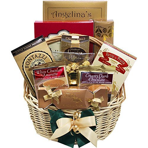 Sweet Sensations Cookie, Candy and Treats Gift Basket SMALL (Chocolate Option) (Gormet Baskets)