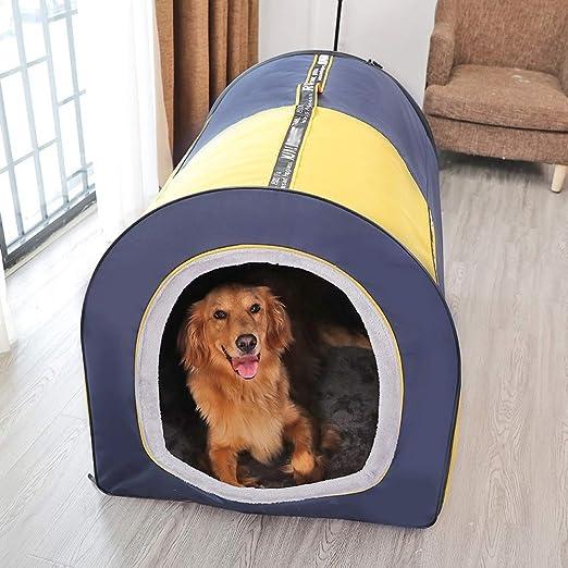 Domeilleur 1 Pieza Mascotas Perro Gato Cachorros Nido Cama Gatitos casa Caliente Suave c/ómodo para Dormir caf/é Large
