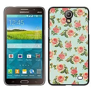 // PHONE CASE GIFT // Duro Estuche protector PC Cáscara Plástico Carcasa Funda Hard Protective Case for Samsung Galaxy Mega 2 / mint green floral rose wallpaper retro /