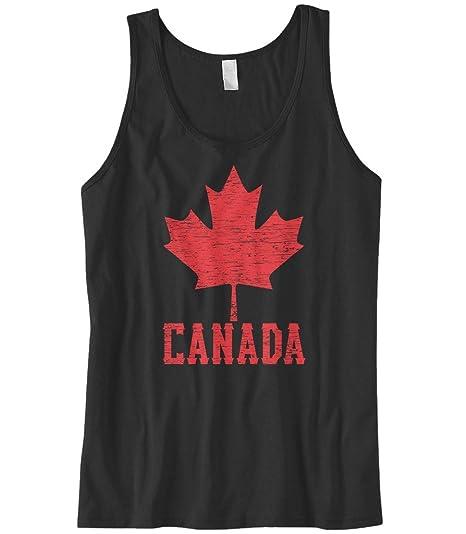 6867e5de0aac3d Amazon.com  Cybertela Men s Canadian Flag Canada Maple Leaf Tank Top ...