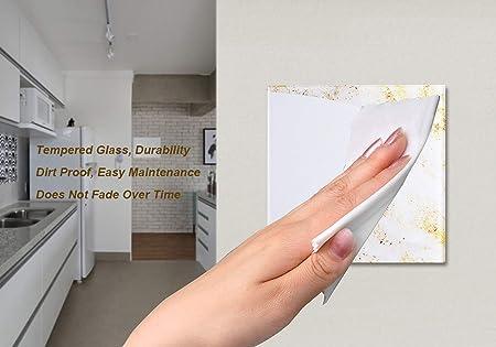 panneau en verre en cristal blanc interrupteur tactile de la m/ême mani/ère quune passerelle /écran tactile europ/éen ToomLight Interrupteur tactile europ/éen Stanard