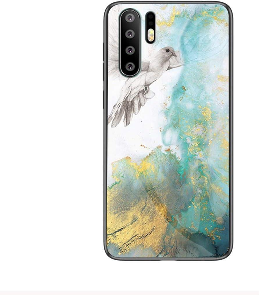 Jinghuash Compatible avec Huawei P30 Pro Coque Marbre Motif Verre Tremp/é Housse Etui de Protection Ultra Mince TPU Silicone /Étui Antichoc Rigide Bumper Case per Huawei P30 Pro,Noir