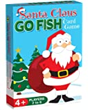 Santa Claus GO FISH, a 3-in-1 Christmas Game for Kids (GO FISH, Old Maid, and Christmas Matches) / 3 Fun Classic Kids Christmas Card Games in ONE Holiday Themed Deck / Ideal Size for Stocking Stuffers