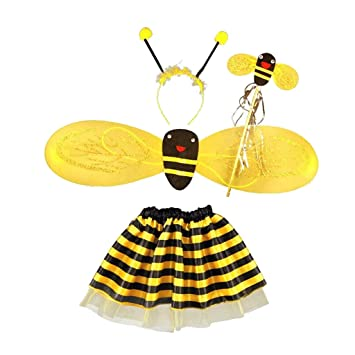 Dolity Kostumset Biene Haarreif Und Flugel Bienenkostum Kinder