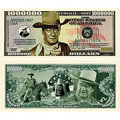 "John Wayne Million Dollar Bill with Bonus ""Thanks a Million"" Gift Card Set and Clear Protector: Everything Else"