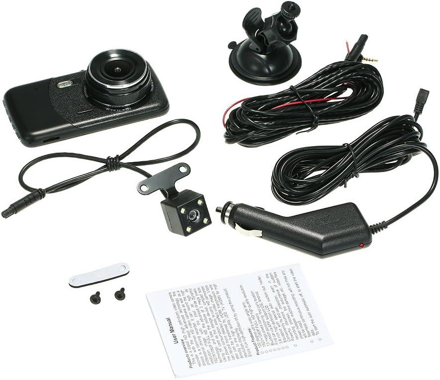 Leepesx 3.6 voiture double lentille DVR Dash Cam cam/éra cam/éscope Emplacement du v/éhicule//LED Vision nocturne//d/étection de mouvement//enregistrement en boucle