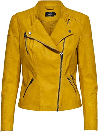 TALLA 34. Only Onlava Faux Leather Biker Otw Noos Chaqueta para Mujer