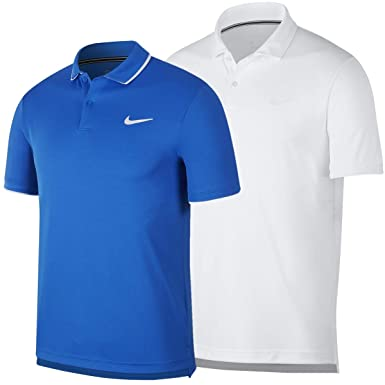 Nike NikeCourt Dri-FIT Polo de Tenis, Hombre, Blanco White/Black ...