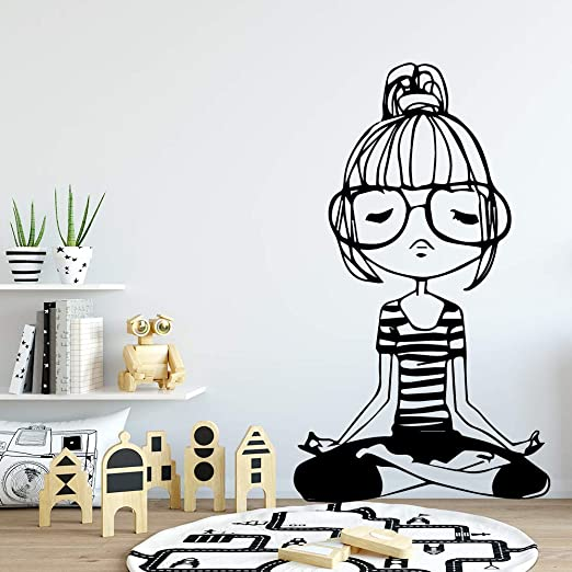 TYLPK Yoga Girl Vinilo Adhesivos de pared Decoración para el ...
