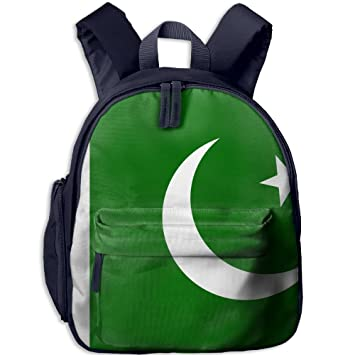 ba37782e8af Image Unavailable. Image not available for. Color  Fengyaojianzhu Pakistan  Flag Cool School Book Bag Travel Student Backpack For Children Kids Girls  Boys