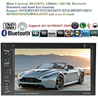 Eaglerich Car Stereo Bluetooth Radio HD 6.8 INCH 2 DIN Touch Screen Handsfree TF/USB/AUX MP3/MP4 MP5 Support DVD