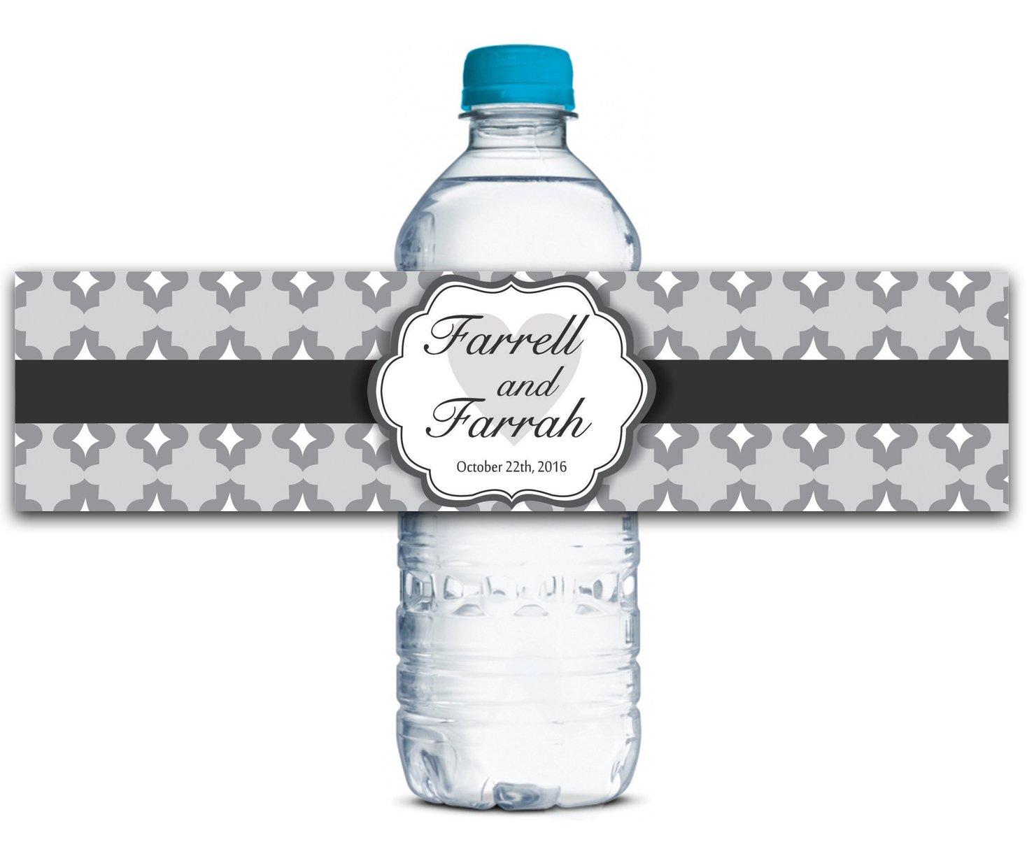 Personalisierte Personalisierte Personalisierte Wasserflasche Etiketten Selbstklebende wasserdichte Kundenspezifische Hochzeits-Aufkleber 8  x 2  Zoll - 50 Etiketten B01A0W3W70 | Einzigartig  c9c8e5