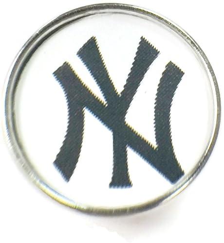 amazon com fashion snap jewelry mlb logo new york yankees 18mm rh amazon com new york yankees script logo font new york yankees font