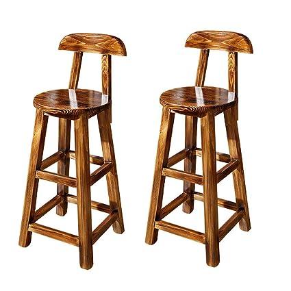 Amazon Com Nubao Retro Antique Bar Stool Counter Chair