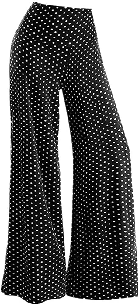 1930s Wide Leg Pants and Beach Pajamas LISTHA Striped Polka Dot Wide Leg Pants for Women Plus Size Palazzo Trousers $15.99 AT vintagedancer.com