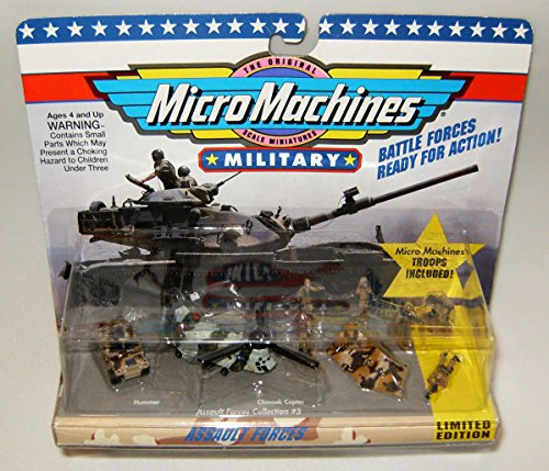 Combat Force Micro Helicopter - Micro Machines Assault Forces #5 Military Collection