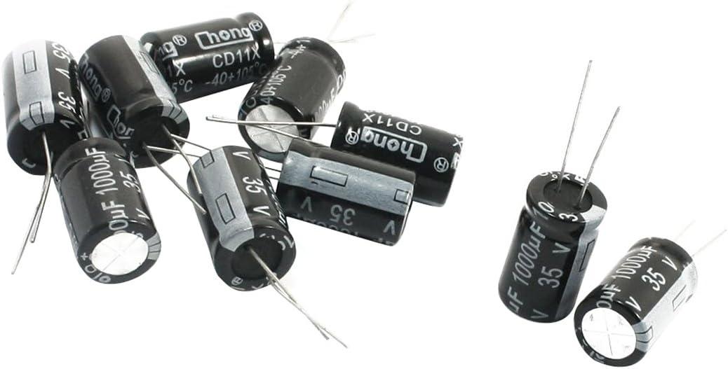 Elektrolytkondensator Toogoo R 10 Stueck 1000uf 35v Radial Aluminium Elektrolytkondensatoren 13 Mm X 21 Mm Baumarkt