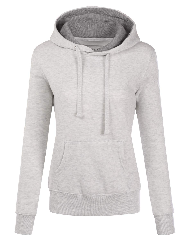 ba697b1a40109 NINEXIS Womens Long Sleeve Fleece Pullover Hoodie Sweatshirts product image
