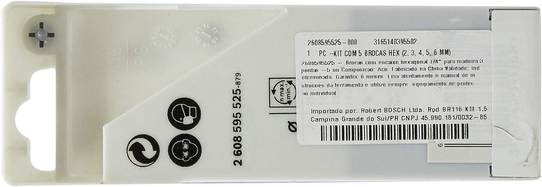 5 pcs. Bosch holzspiralbohrer avec 1//4 Pouces-Hexagonal Tige 6 x 63 x 106 mm