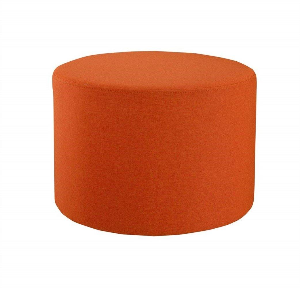 WangJiu Taburete Minimalista Moderno del Taburete de la Tabla de café del Taburete de la Tela del Taburete de la Tela del Taburete (Color : Orange)