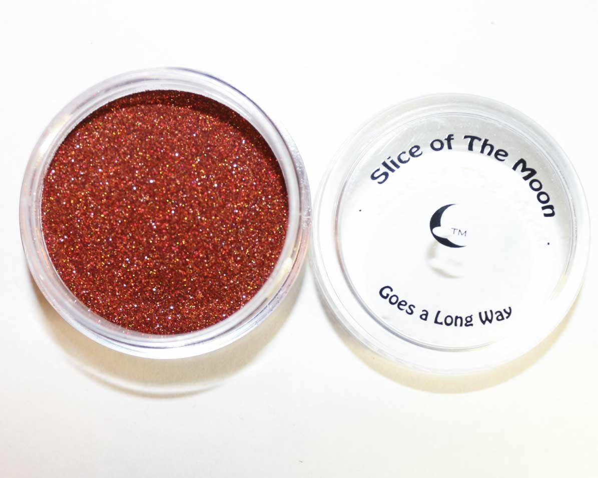Holographic Copper Glitter Powder 15g - Solvent Resistant Glitter Powder, Slice of the Moon