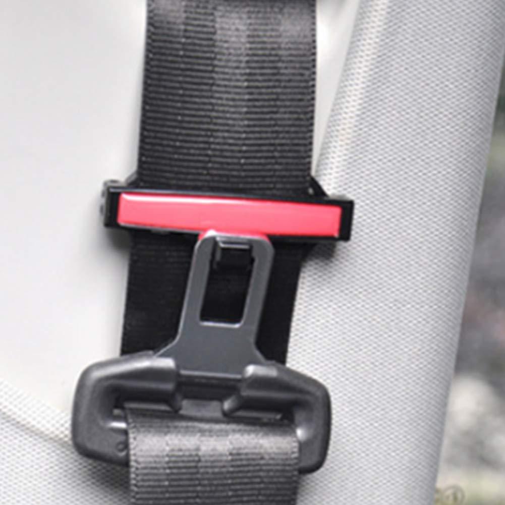 Cintur/ón de Seguridad para Asiento de Coche Color Rojo con Clip Fijo DDG EDMMS Hebilla para Asiento de Coche Abrazadera Ajustable