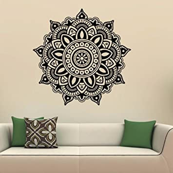 Amazon.com: ZOMUSA Wall Stickers, Mandala Flower Indian Bedroom ...