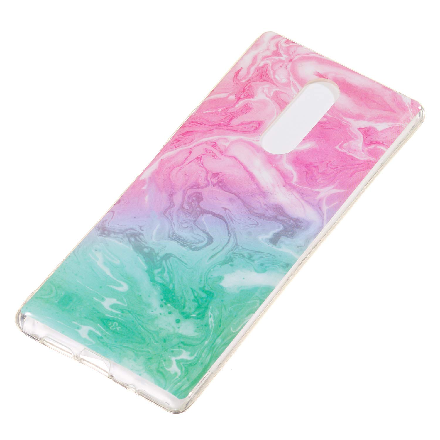 Soft Case for Sony Xperia XZ4,Anti Scratch Cover for Sony Xperia XZ4,Herzzer Stylish Pretty Pink Blue Marble Stone Pattern TPU Bumper Flexible Shock Scratch Resist Rubber Case by Herzzer (Image #3)