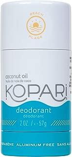 product image for Kopari Aluminum-Free Deodorant Beach | Non-Toxic, Paraben Free, Gluten Free & Cruelty Free Men's and Women's Deodorant | Made with Organic Coconut Oil | 2.0 oz