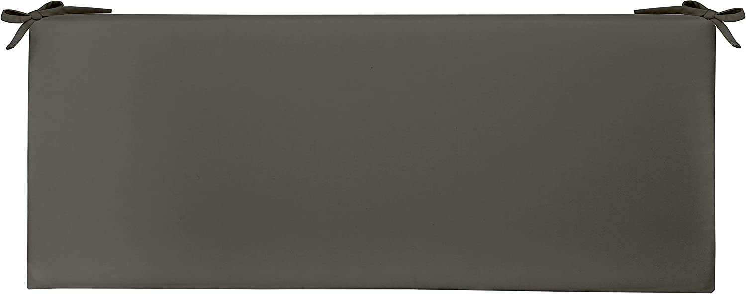 """RSH Décor Indoor Outdoor 3"""" Foam Bench Cushion with Ties, ( 72"""" x 18"""" x 3"""" ) Choose Color (Charcoal)"""
