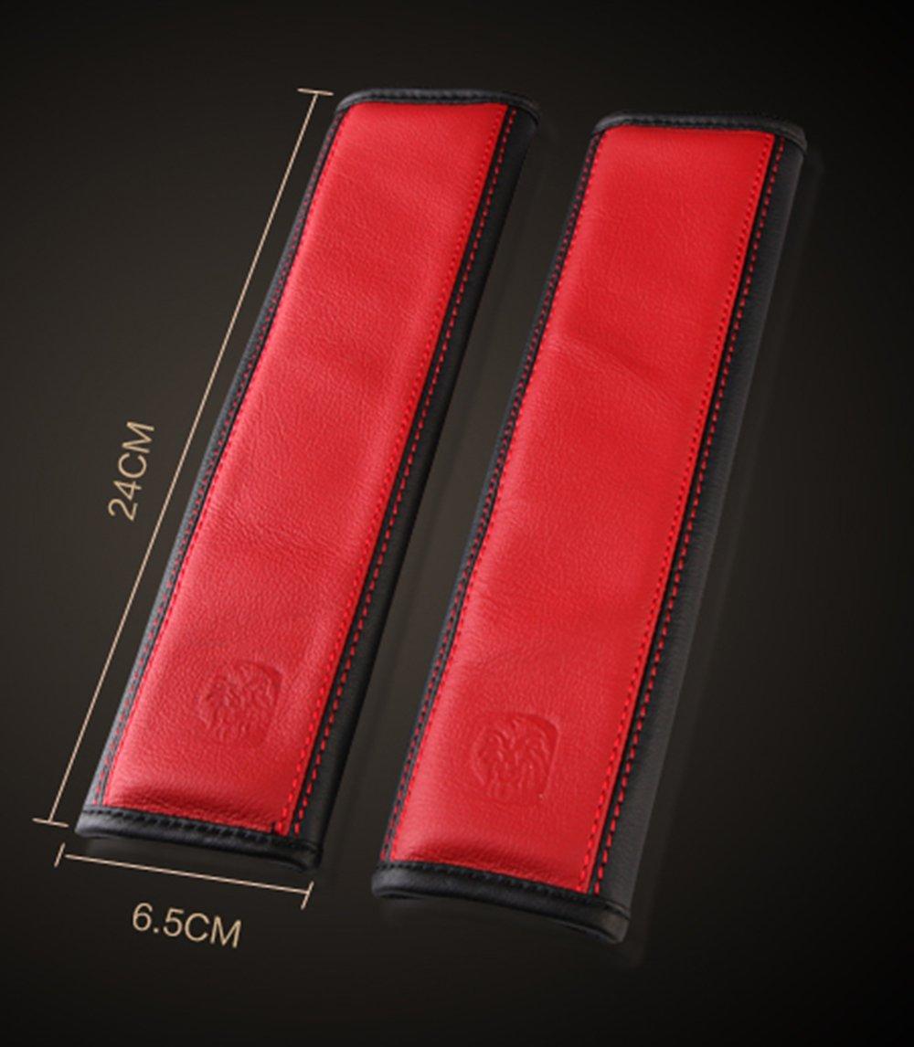SUV Black Airplane,Carmera Backpack Straps Truck Seatbelt Shoulder Strap Pad for Car Genuine Leather U/&M 2 pcs Soft Leather Seat Belt Covers