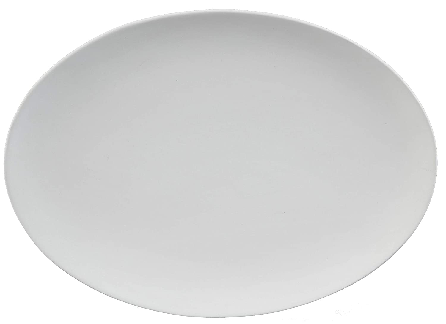 Creative Hobbies Coupe Oval Platter, 16 inch, Case of 6, Unfinished Ceramic Bisque, with How to Paint Your Own Pottery Booklet