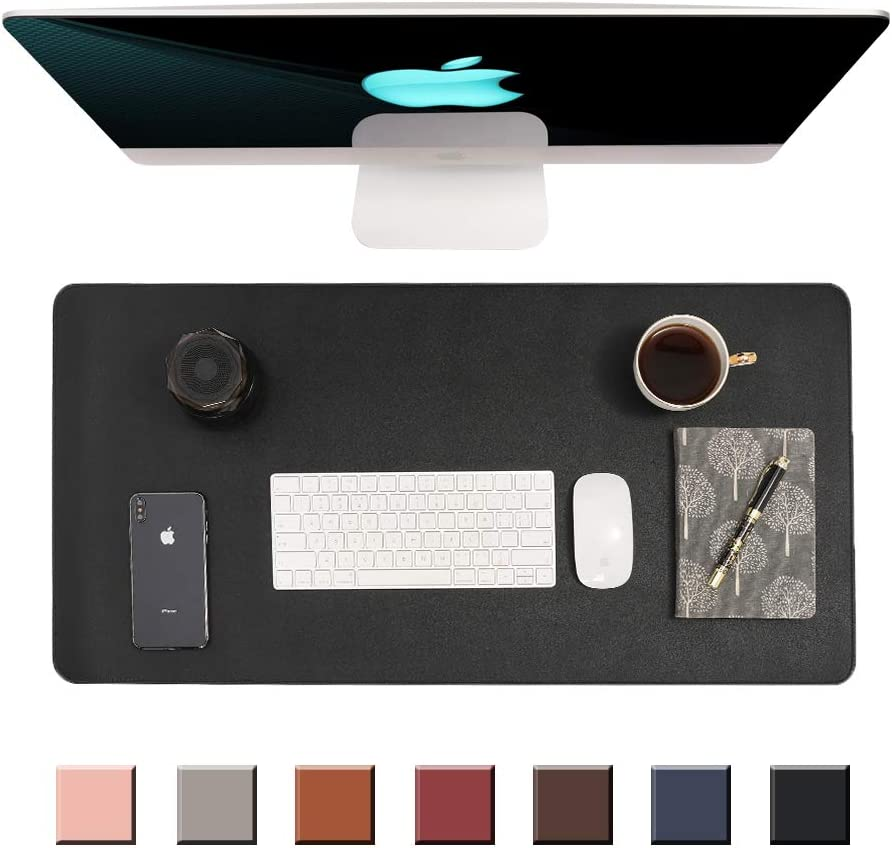 """Writing Desk Pad Protector,Non-Slip PU Leather Desk,Mouse Pad,Office Desk Mat,Laptop Desk Pad,Waterproof Desk Writing Pad for Office and Home(31.5"""" x 15.7"""") (Black)"""