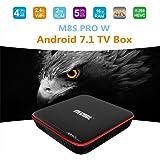 MECOOL M8S PRO W Androide 7.1 Inteligente TV Box TV Box S905W da 2 GB / 16 GB Quadrilatero Nucleo WI-FI Lan HD OTA Aggiornare Multilingua Media Scatola Media Giocatore