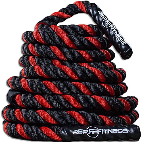 Rep V2 Red Battle Rope, 1.5 inch - 30 ft