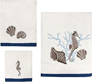 Allure Home Creation Folly Beach Cotton Three Piece Towel Set