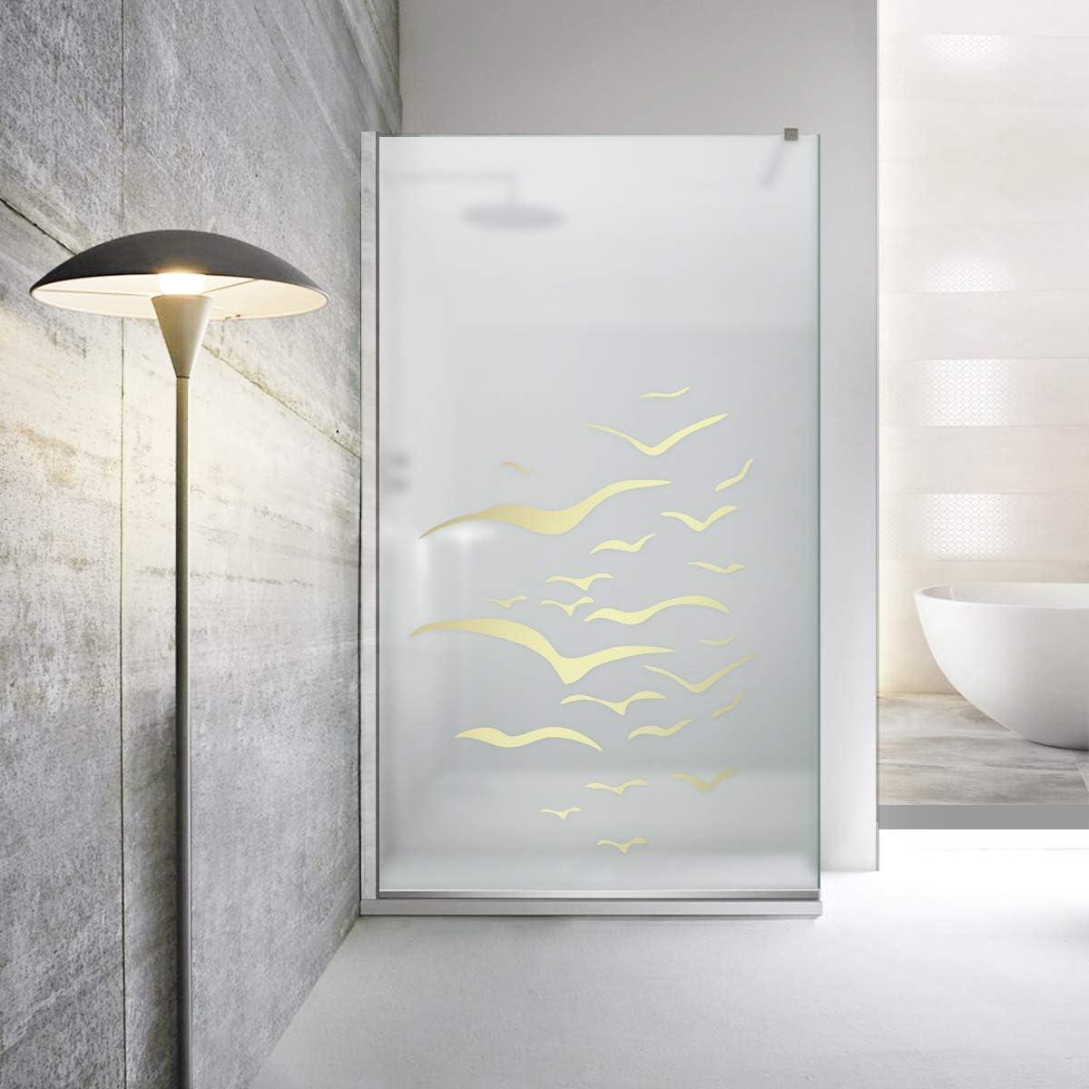 Modern Leroy Timeless - Mampara de ducha (8 mm, cristal templado de seguridad, nano, acero inoxidable SS304), dorado: Amazon.es: Bricolaje y herramientas