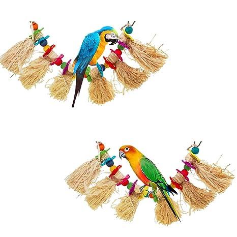 LCY-YCY Parrot Bird Bite Toy Lafite Grass Seda Grass Tearing ...
