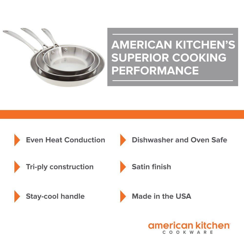 Amazon.com: American Kitchen - The Triple Threat Stainless Steel ...