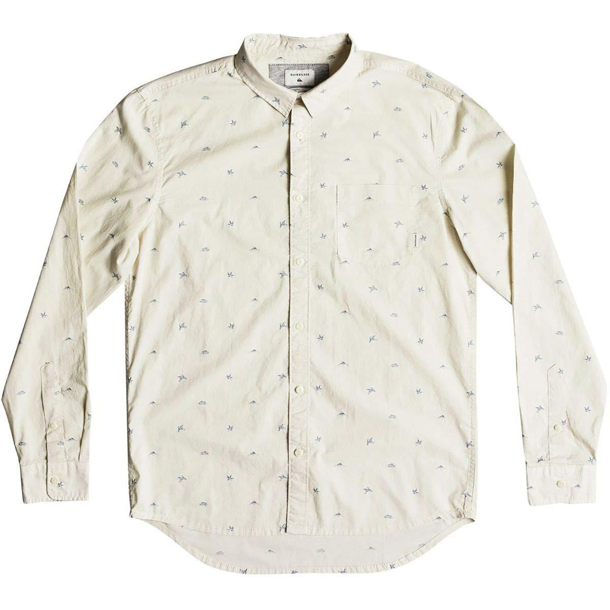 Quiksilver Mens Fuji Mini Motif Long Sleeve Button Down Shirt