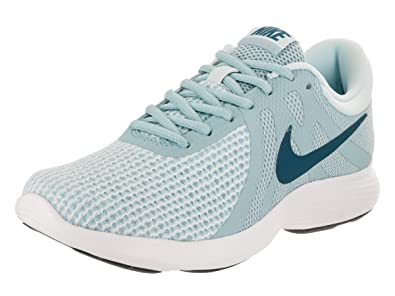 timeless design b16bf aeacf Image Unavailable. Image not available for. Color  Nike Women s Revolution  4 Running Shoe Ocean Bliss Blue Force Glacier Blue Size 8.5