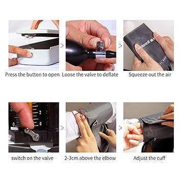 yuwell escritorio tipo Mercurial esfigmomanómetro Classic - Tensiómetro aneroide tradicional Manual Presión Arterial Monitor: Amazon.es: Salud y cuidado ...