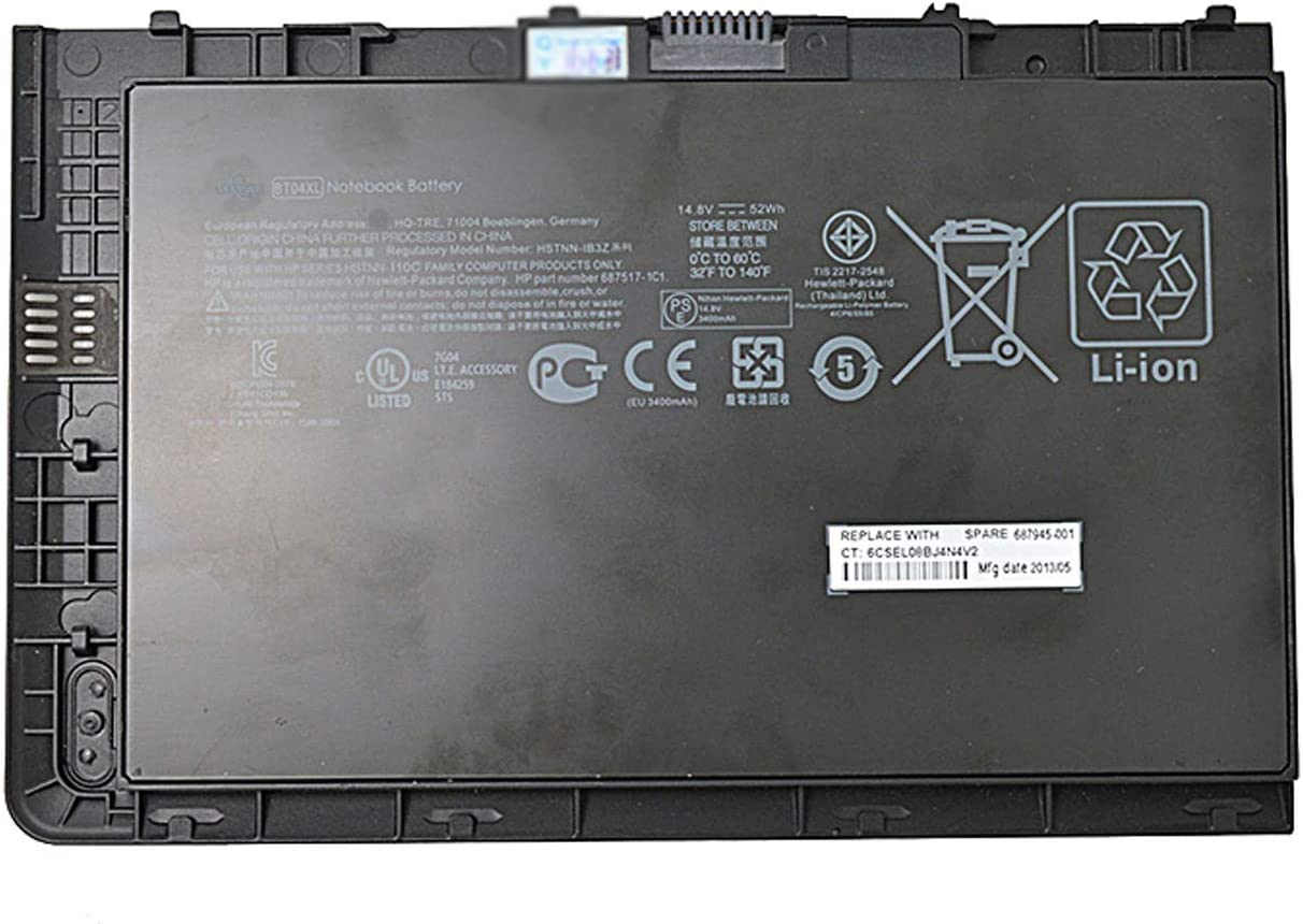 Dentsing BT04XL (14.8V 52Wh) Laptop Battery Compatible with HP Elitebook Folio 9470 9470M 9480M Ultrabook Series Notebook BT04 687517-171 687517-241 HSTNN-I10C HSTNN-IB3Z HSTNN-DB3Z