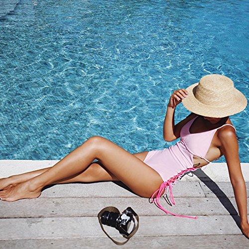YUPE Hot spring Badeanzug Mädchen Fashion Pink Triangel Bikini - Badeanzug weiblichen Strand